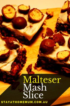 Maltesers, mmmmm! Any recipe that calls for Maltesers is a winner in my book! This recipe also uses SAHM favourites - condensed milk and chocolate. **drooooool**