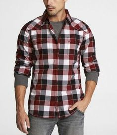 Plaid Flannel Shirts larger on the color stripe looks nice. The smoke gray long sleeved tee-shirt sexy... Inspiration for Men | Famous Outfits