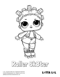 Roller Sk8ter Coloring Page Lotta LOL