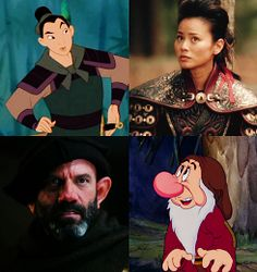 From the Disney movie & Once Upon A Time: Mulan and Grumpy