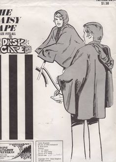 Daisy Kingdom 14 1970s Mens Womens Teen Hooded Cape Pattern Daisy Cape Rain Poncho Adult  Vintage Sewing Pattern One Size Fits All UNCUT
