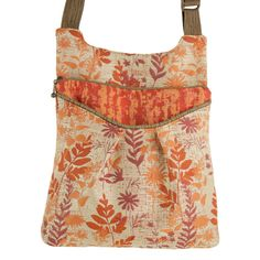 """Maruca Busy Body handbag in Fern Hot.  The sling with a boho vibe. Soft adjustable custom strap. Interior with small pocket. Open exterior pocket for quick access. 9"""" x 9.5"""" x 2"""" Strap drop length: 12"""" - 24"""" Web strap width: 1"""" Handmade in Boulder, CO. Shop The Handbag Store in store at 253 Main St, Hill City SD or online at www.shopthehandbagstore.com."""
