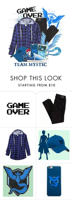 """""""Team Mystic FTW"""" by art-by-rose ❤ liked on Polyvore featuring American Eagle Outfitters, Valor and Converse"""