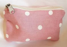 Pretty little zipper purse. Or even a few coins. Measures approx x Lined with Kath kidston type floral fabric. Pouch, Wallet, Coins, Coin Purse, Trending Outfits, Polka Dots, Unique Jewelry, Handmade Gifts, Etsy Shop