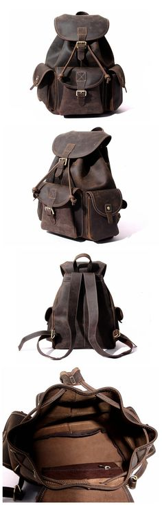 Leather Backpack/ Rucksack /School Backpack