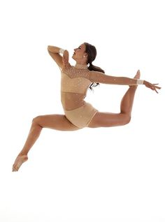 Jupela - Simple yet stunning Jazz, Lyrical and Contemporary Dance costume.  Nude with a sweetheart neckline for a classic romantic look!