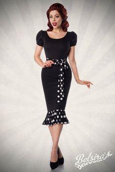 Bühne frei für dieses umwerfende Jersey #Kleid im atemberaubenden Vintage Stil. https://www.burlesque-dessous.de/rockabilly/kleider/vintage-kleider/vintage-jerseykleid