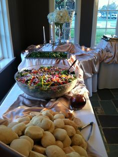 An Astin Mansion buffet set-up. Food can be pretty!