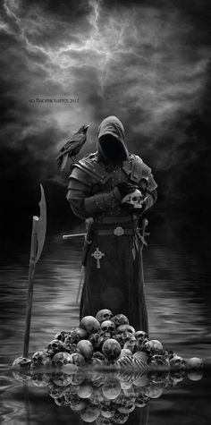 Credits / Stocks: by [link] by [link] thx by [link] thx by [link] thx Adobe Photoshop .The Executioner. Grim Reaper Art, Grim Reaper Tattoo, Dark Artwork, Skull Artwork, Dark Fantasy Art, Skull Pictures, Cool Pictures, Angel Of Death Tattoo, Norse Tattoo