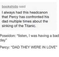 This might be one of the best Percy Jackson posts I've seen Percy Jackson Head Canon, Percy Jackson Fan Art, Percy Jackson Memes, Percy Jackson Books, Percy Jackson Fandom, Percy Jackson Annabeth Chase, Magnus Chase, Solangelo, Percabeth