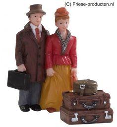 Hotelgasten met koffers set