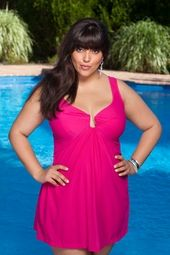 Women's Plus Size Swimwear - Miraclesuit Ambassadress Underwire Swimdress