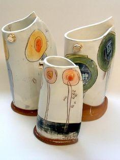 "© Linda Styles Ceramics, ""My intention is to achieve a mix of chaos & order; Slab Pottery, Pottery Vase, Ceramic Pottery, Modern Ceramics, Contemporary Ceramics, Keramik Design, Sculptures Céramiques, Pottery Techniques, Ceramics Projects"