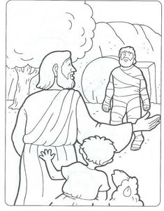 day 2 coloring page Lazarus