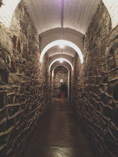 Biltmore House- Basement- Hallway to Halloween Room