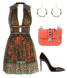 Untitled #640 by styledbyhkc on Polyvore featuring moda, Valentino, Christian Louboutin and River Island