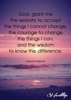 The serenity prayer                                                                                                                                                     More
