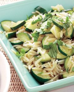 Orzo and Zucchini Salad - Martha Stewart Recipes