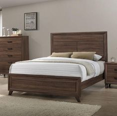 The Crimea rustic bed embodies classic design but adds a twist. The bed is a modern take on the traditional, the nightstand uses a matte artisan to form an elegant base, and the distressed look adds a lovely contrast to the clean straight lines in the other pieces. Bedroom Bed Design, Bedroom Sets, Bedroom Decor, Bedrooms, Bed Stand, French Bed, Rustic Bedding, Wood Beds, Bed Furniture