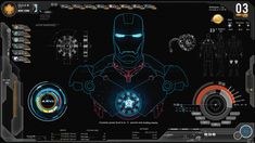 Unique Iron Man Jarvis theme for Windows 7