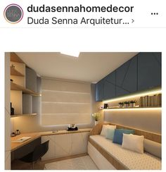 59 Ideas bedroom design kids basements for 2019 Single Apartment, Small Apartment Bedrooms, Home Office Bedroom, Guest Room Office, Home Office Design, Home Office Decor, Small Rooms, Bedroom Decor, Small Home Offices