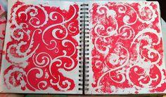 I love swirls.  Art journal background page by Erin | Flickr - Photo Sharing!