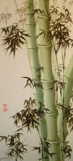 Paintings Orange Things orange z promocyjnego na główne Japanese Painting, Chinese Painting, Ink Painting, Watercolor Paintings, Bamboo Art, Bamboo Drawing, Art Chinois, Art Asiatique, Art Japonais