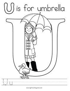 letter u coloring page 2