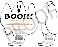 Ghost Invitation, Halloween Ghost Invitation