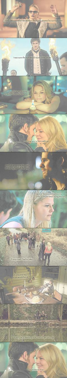 "Captain Swan- ""To Get Me to You""........... I WISH I HAD THE SOBBING EMOTICON RIGHT NOW BUT I'M ON A COMPUTER"