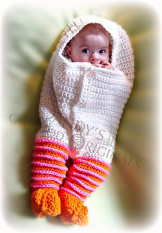 Ravelry: 660 almost hatched cocoon with legs pattern by Sandy Powers