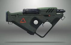 http://www.artstation.com/artwork/flame-rifle Concept Weapons, Sci Fi Weapons, Weapons Guns, Fantasy Weapons, Cyberpunk Rpg, Cool Guns, Airsoft, Nerf Mod, Hand Guns