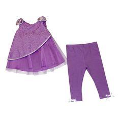 Toddler Girls' Tunic and Legging Pant Set - Purple - Purple