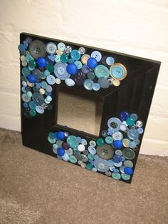 13 best button mirrors images button crafts button art mirrors rh pinterest com