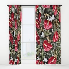 Buy Amazing Floral Christmas Arrangement Window Curtains by mehrfarbeimleben. Worldwide shipping available at Society6.com. Just one of millions of high quality products available. Blackout Curtains, Window Curtains, Christmas Arrangements, Ladder Decor, Amazing, Floral, Products, Home Decor, Christmas