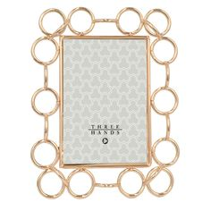 Metal Photo Frame with Unique Ring Design!