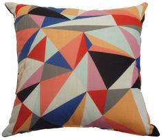 Geometric Carnival Cushion ~ Peoni Home - Surround Yourself with Style Blue Chevron, Safari, Living Spaces, Carnival, Cushions, Throw Pillows, Quilts, Awesome, Google
