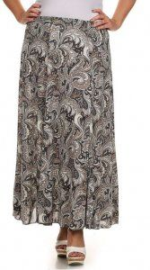Paisley Maxi Skirt Plus sizes only