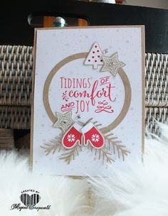 Magical Scrapworld, Tidings of comfort, candy cane lane, cards, christmas, christmas pines, Stampin' Up!,