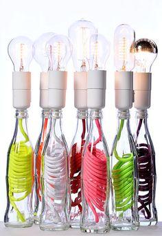 Vetro lampadine in bottiglia originale design decorazione interni - #glassislife