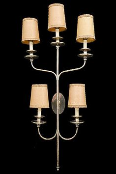 """Vintage French Silverplated Sconce - French Circa: 1950     Width: 22""""    Depth: 8.50""""    Height: 47"""""""