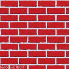 40ft Christmas Scene Setter Room Roll - Red Brick Wall   eBay
