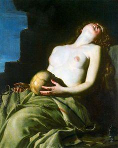 dwellerinthelibrary: Guido Cagnacci, La Maddalena Svenuta (The Swooning Magdalene), 1663