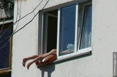 One way to sun-bathe. Click to see more and comment...