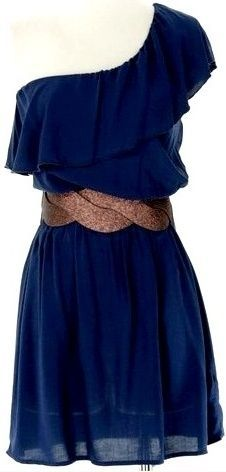 Not much of a dress kinda girl, but this is cute.: Vestidos Casuales Outfits, Summer Dress, Outfit Vestidos Casual, Navy Blue Dresses, Style, Casual 2013, Outfits Vestidos Casual