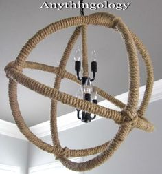 Nautical Rope Chandelier Knock off: http://www.completely-coastal.com/2016/02/rope-chandeliers.html
