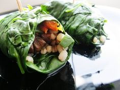 For your sandwich, use spinach or swiss chard leaves instead of a wrap: Six spinach leaves (slightly steamed so they stick together): 14 calories One whole-wheat wrap: 130 calories Calories saved: 116 Source: POPSUGAR Social user prepel