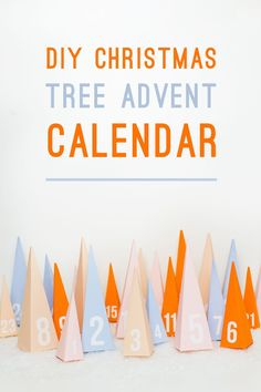 DIY PASTEL CHRISTMAS TREE ADVENT CALENDAR