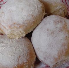 Scottish Morning Rolls. How I miss them I can still smell the dough when I think of them.