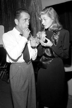 Humphrey Bogart and Lauren Bacall  - HarpersBAZAAR.com